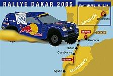 WRC - Bilderserie: Etappenplan der Rallye Dakar 2005