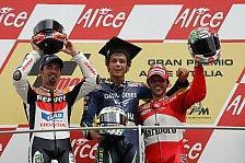 MotoGP - Mugello: Rossi führt italienisches Quartett an