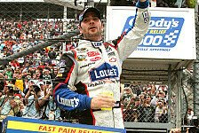 NASCAR - Jimmie Johnson überlistet Denny Hamlin