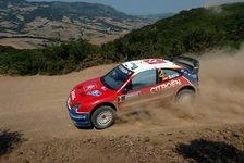 WRC - Citroen auf den Positionen 1 und 3
