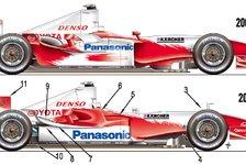 Formel 1 - Bilderserie: Der TF104 & TF105 im Vergleich