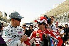 Formel 1 - Alonso sieht in Schumacher schärfsten Gegner