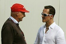 Formel 1 - Lauda glaubt an Schumacher-Sieg