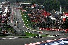 Formel 1 - Belgien möchte GP-Vertrag neu verhandeln