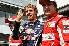 Formel 1 - Vettel läuft Alonso den Rang ab
