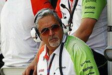Formel 1 - Mallya kurz vor Fahrerbekanntgabe