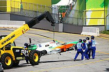 Formel 1 - Liuzzi in Brasilien knapp an Verletzung vorbei