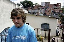 Formel 1 - Bilder: Fernando Alonso zu Besuch bei UNICEF Brasilien