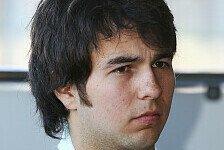 Formel 1 - Perez will in der ersten Saison viel lernen