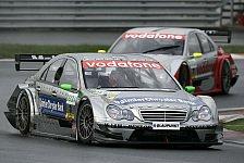 DTM - Mercedes - silberner Triumph mit grünem Farbklecks