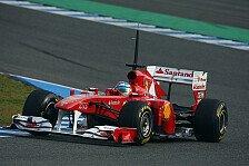 Formel 1 - Alonso und Massa mit Extraschicht in Jerez