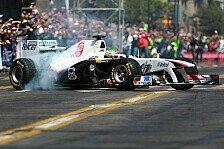 Formel 1 - Perez dreht Showrunden in der Heimat