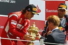 Formel 1 - Bilder: Großbritannien GP - Podium
