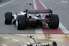 Formel 1 - Bilderserie: Der MP4-19B & MP4-20 im Vergleich
