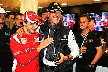 Formel 1 - Massa-Special: Schumacher fährt mit