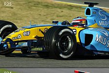 Formel 1 - Bilderserie: Der R24 & R25 im Vergleich