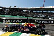 Formel 1 - 1. Training - Webber knapp vor Button