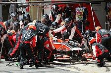 Formel 1 - Marussia in Jerez mit Vorjahres-Auto unterwegs