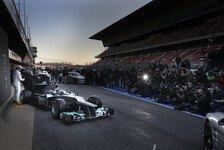 Formel 1 - Neuer Mercedes debütiert beim ersten Test