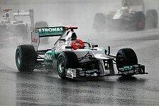 Formel 1 - Schumacher hofft auf Regen