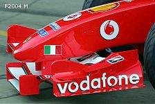 Formel 1 - Bilderserie: Der F2004 M & F2004 im Vergleich