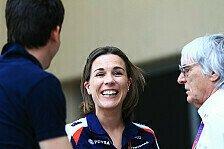 Formel 1 - Claire Williams: Muss mich kneifen