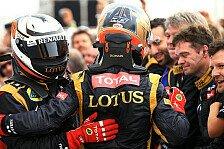 Formel 1 - Lotus bejubelt Podiumsplätze