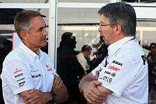 Formel 1 - Whitmarsh und Brawn bei RRA optimistisch
