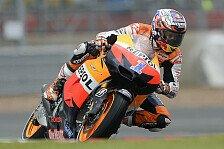 MotoGP - Stoner führt weiter unter schwierigen Bedingungen