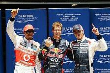 Formel 1 - Vettel auf einer Stufe mit Prost und Clark