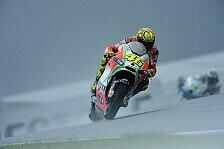 MotoGP - Rossi und Hayden von Regen-Quali enttäuscht