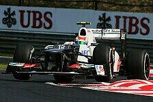 Formel 1 - Perez erwartet starken Ungarn GP