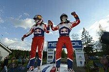 WRC - Loeb strahlt über Start-Ziel-Sieg in Finnland