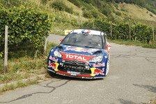 WRC - Loeb mit besonnener Fahrt