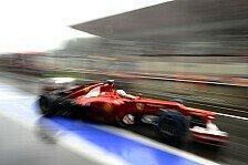 Formel 1 - 3. Training: Alonso mit Bestzeit im Trockenen