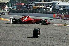 Formel 1 - Alonso froh, Crash heil überstanden zu haben