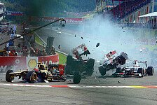 Formel 1 - Bilder: Belgien GP - Startunfall