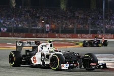 Formel 1 - Sauber: Punktelos in Singapur