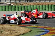 Formel 1 - Testing Time, Tag 4: Schumacher verweist Jenson Button auf Rang zwei