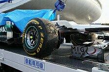 Formel 1 - Trainingsunfall: Schumacher gibt Fahrfehler zu