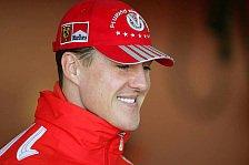 Formel 1 - Michael Schumacher macht sich keine Sorgen um die Konkurrenz