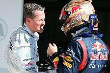 Formel 1 - Vettel auf Michael Schumachers Spuren