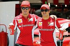 Formel 1 - Alonso: Ferrari könnte Massa vermissen