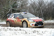 WRC - Schnee und Eis setzen Citroen-Piloten zu