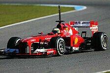 Formel 1 - Ferrari testet mit Bianchi und de la Rosa