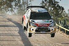 WRC - Citroen kommt in Mexiko nicht in Fahrt