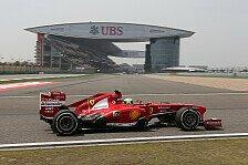 Formel 1 - 2. Training: Massa mit Bestzeit in China