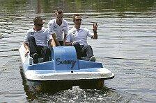 DTM - BMW-Piloten messen sich in Tretbooten