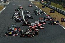 Formel 1 - Saison 2014 mit 22 Rennen