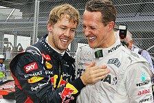 Formel 1 - Vettel über Schumacher: Hoffe auf ein Wunder